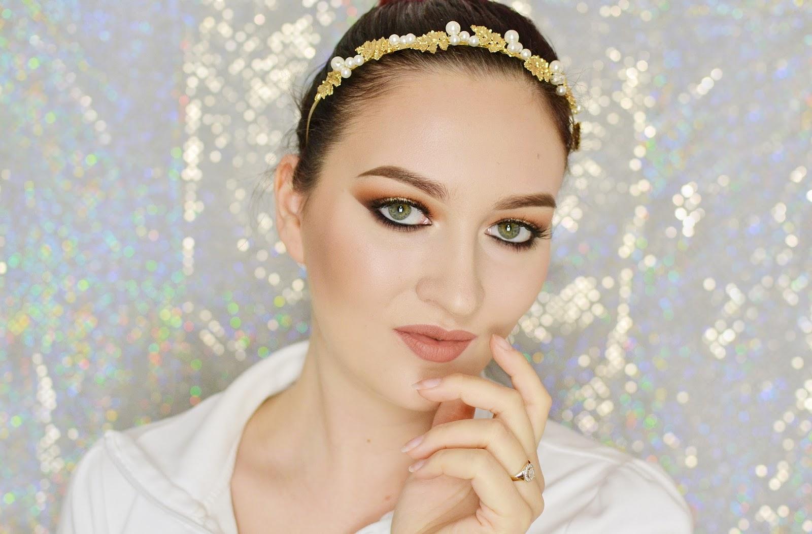 złoty makijaż tutorial