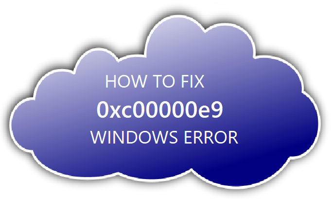 0xc00000e9 An unexpected I/O error has occurred
