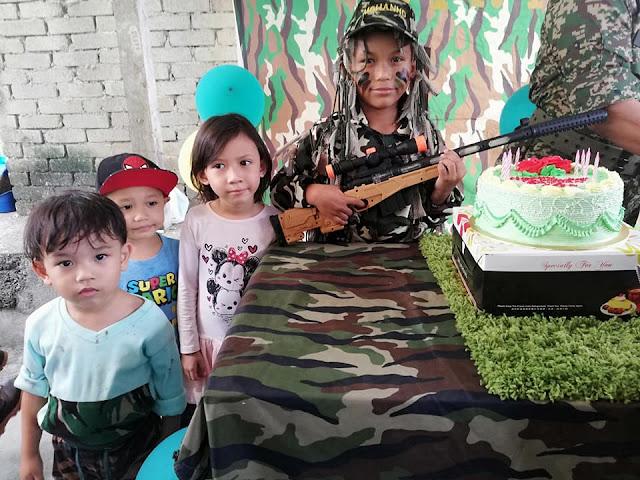 BIRTHDAY RAYYAN YANG KE-10 TEMA ASKAR