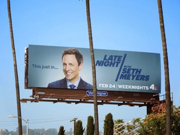 Late Night Seth Meyers billboard