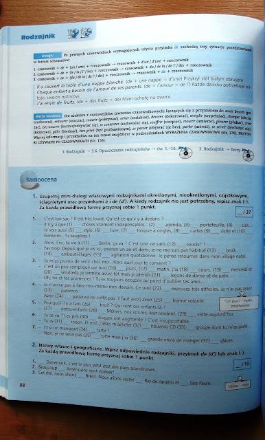 """Recenzje #2 - """"Repetytorium gramatyczne z języka francuskiego"""" - przykładowe strony 2 - Francuski przy kawie"""
