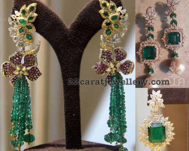Tassels Earrings with Diamonds
