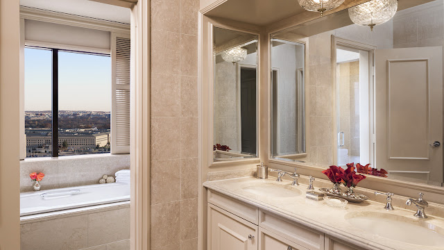 Gorgeous bathroom at Ritz-Carlton Pentagon City