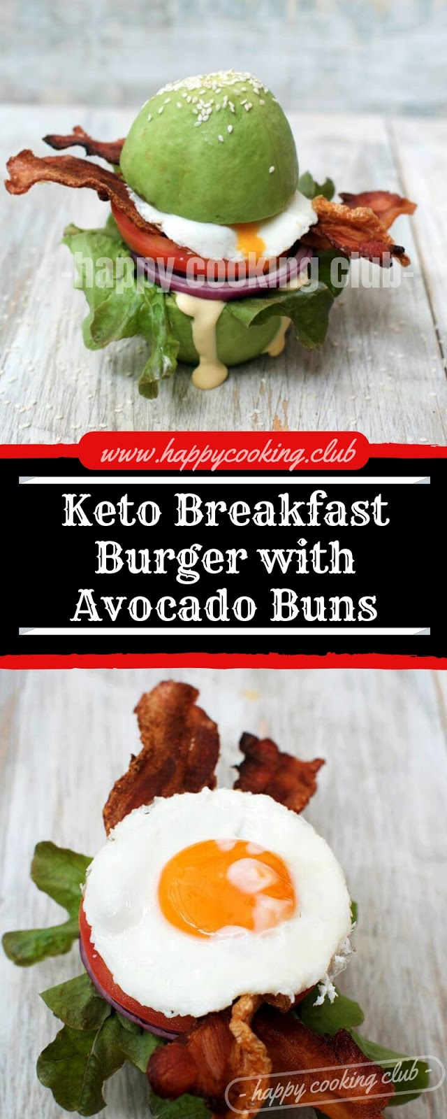 Keto Breakfast Burger with Avocado Buns