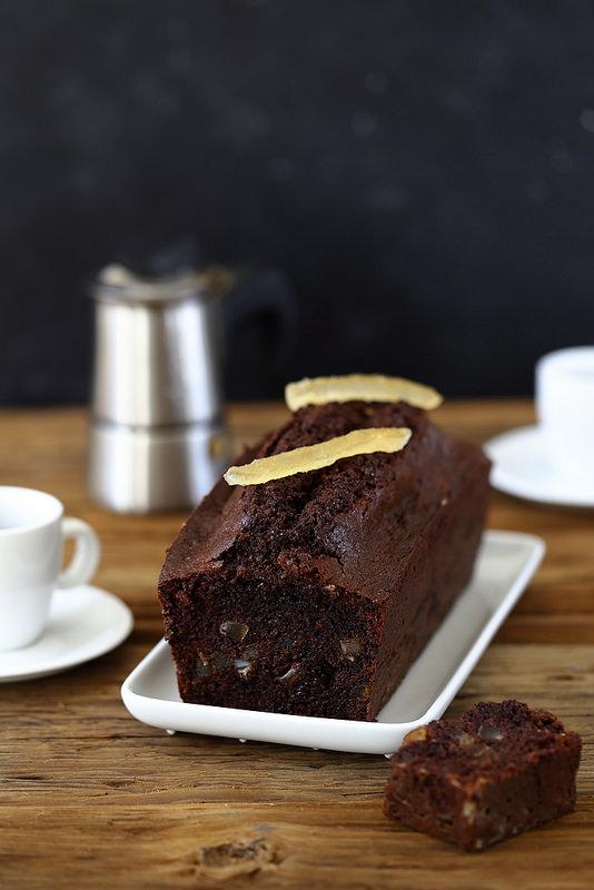 Cake au chocolat et citron confit inspiré de Pierre Hermé