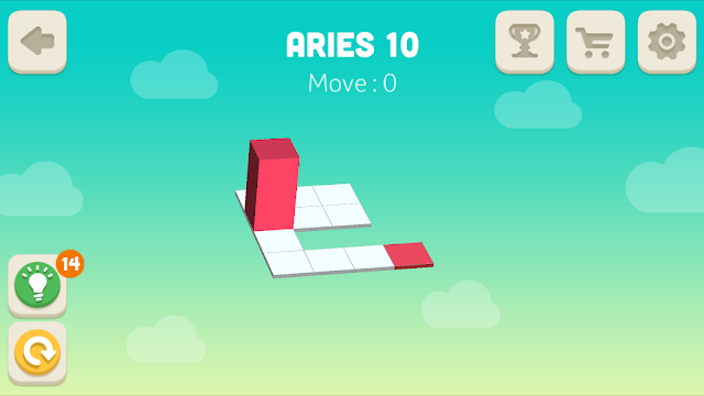 Bloxorz Aries Level 10 step by step 3 stars Walkthrough, Cheats, Solution for android, iphone, ipad and ipod