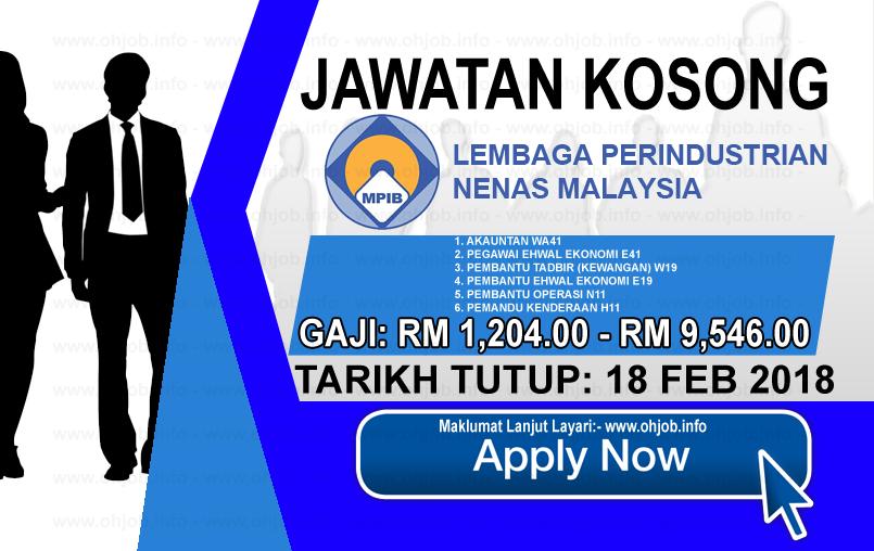 Jawatan Kerja Kosong Lembaga Perindustrian Nanas Malaysia - LPNM logo www.ohjob.info februari 2018