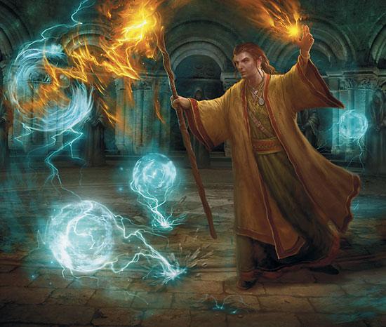 Un mago repartiendo hechizos. Porque él lo vale.