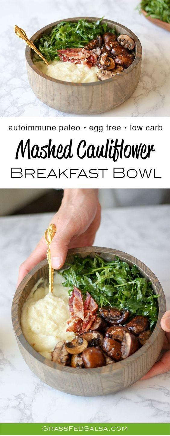 Mashed Cauliflower Breakfast Bowls