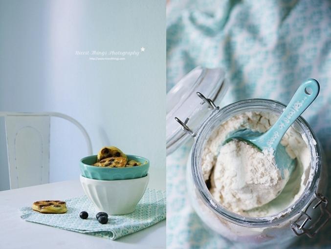 Blaubeer Ricotta Mini Pancakes