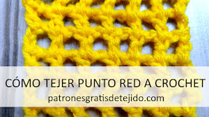 Punto Red a Crochet / Tutoriales para zurdos y diestros