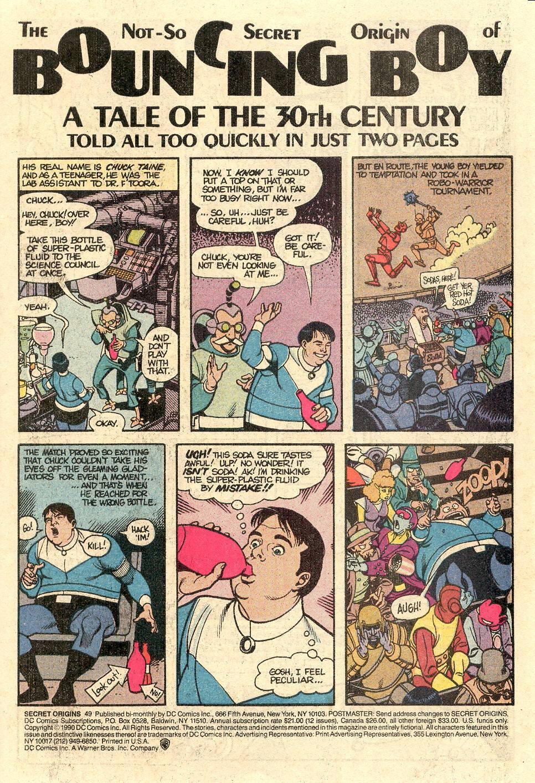 Secret Origins (1986) 49 Page 2