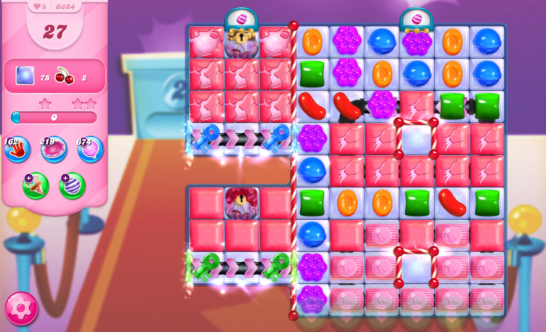 Candy Crush Saga level 6884