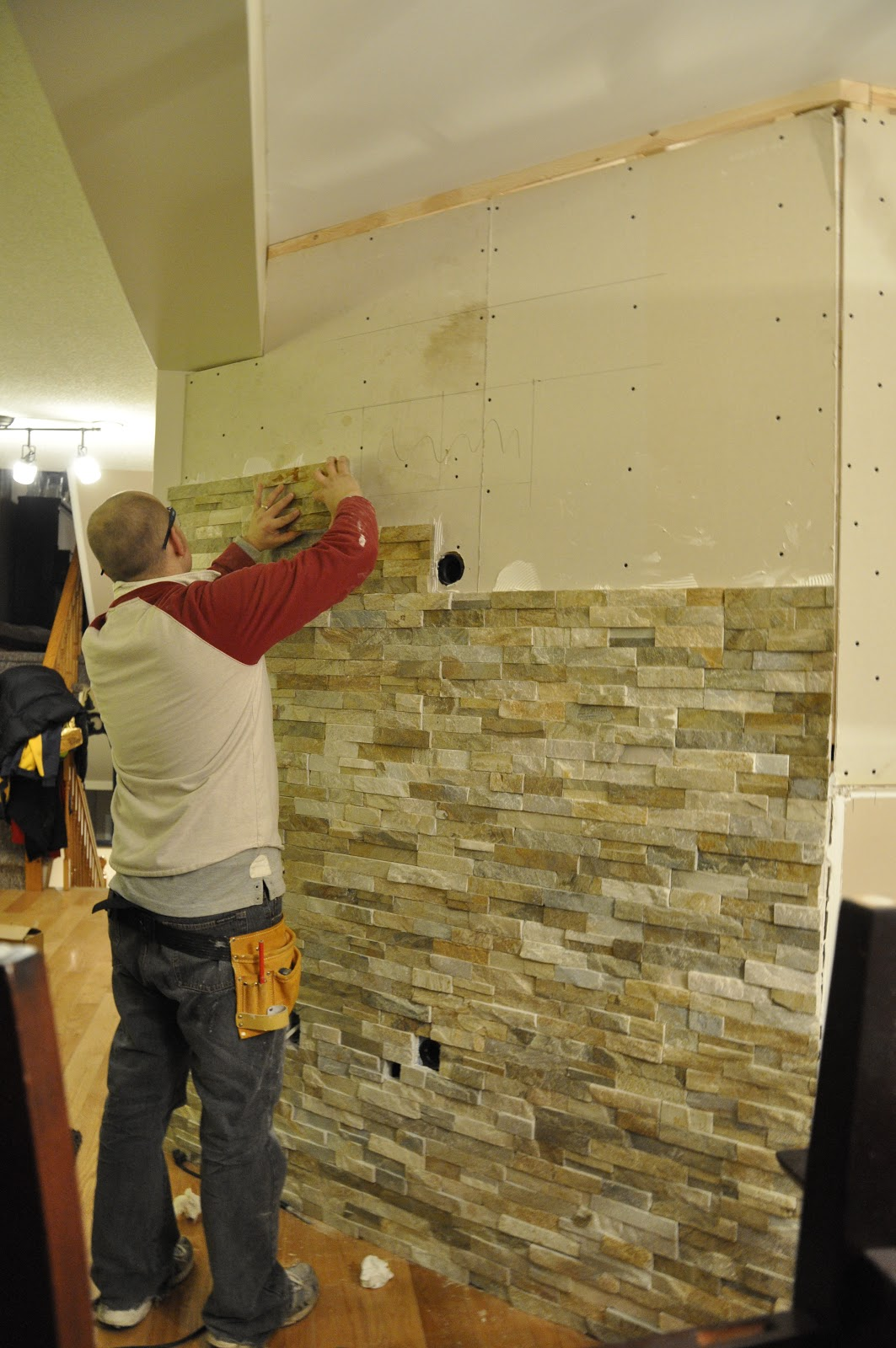 Stone Feature Wall Tutorial With Pictures This Little