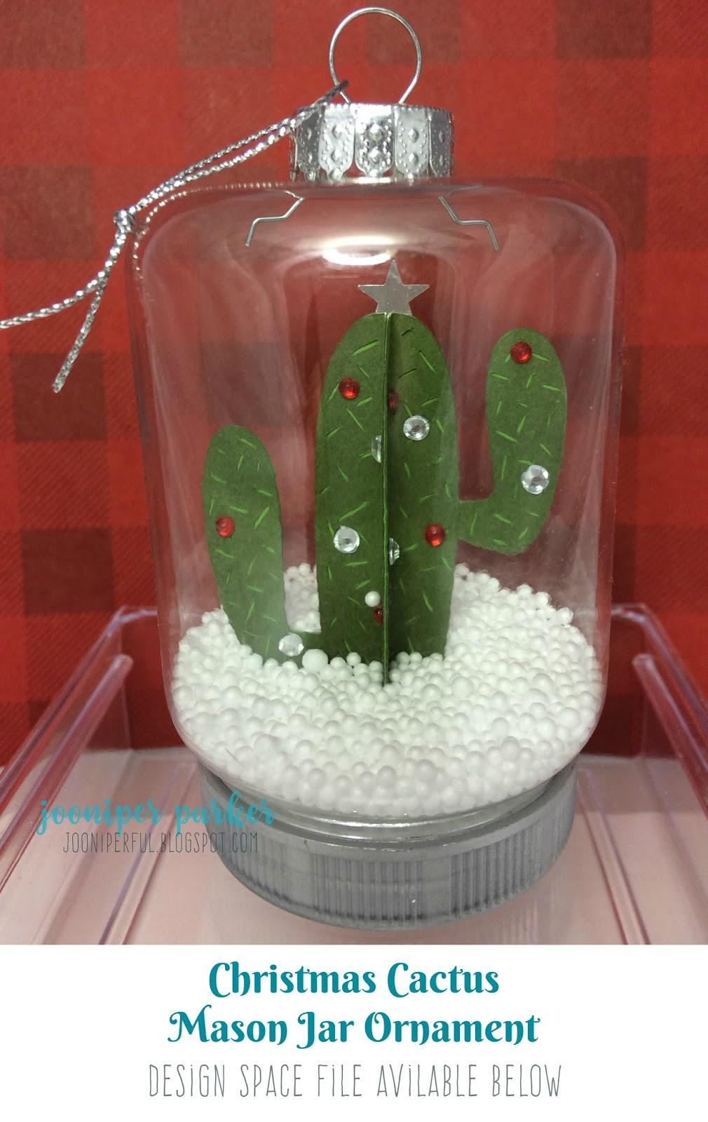 Christmas 3D Cactus Mason Jar Ornament - Dollar Tree ...