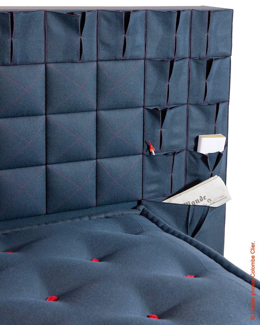 elise fouin t te de lit origami pour le lit national. Black Bedroom Furniture Sets. Home Design Ideas