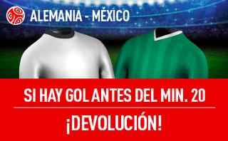 sportium promocion Alemania vs México 29 junio