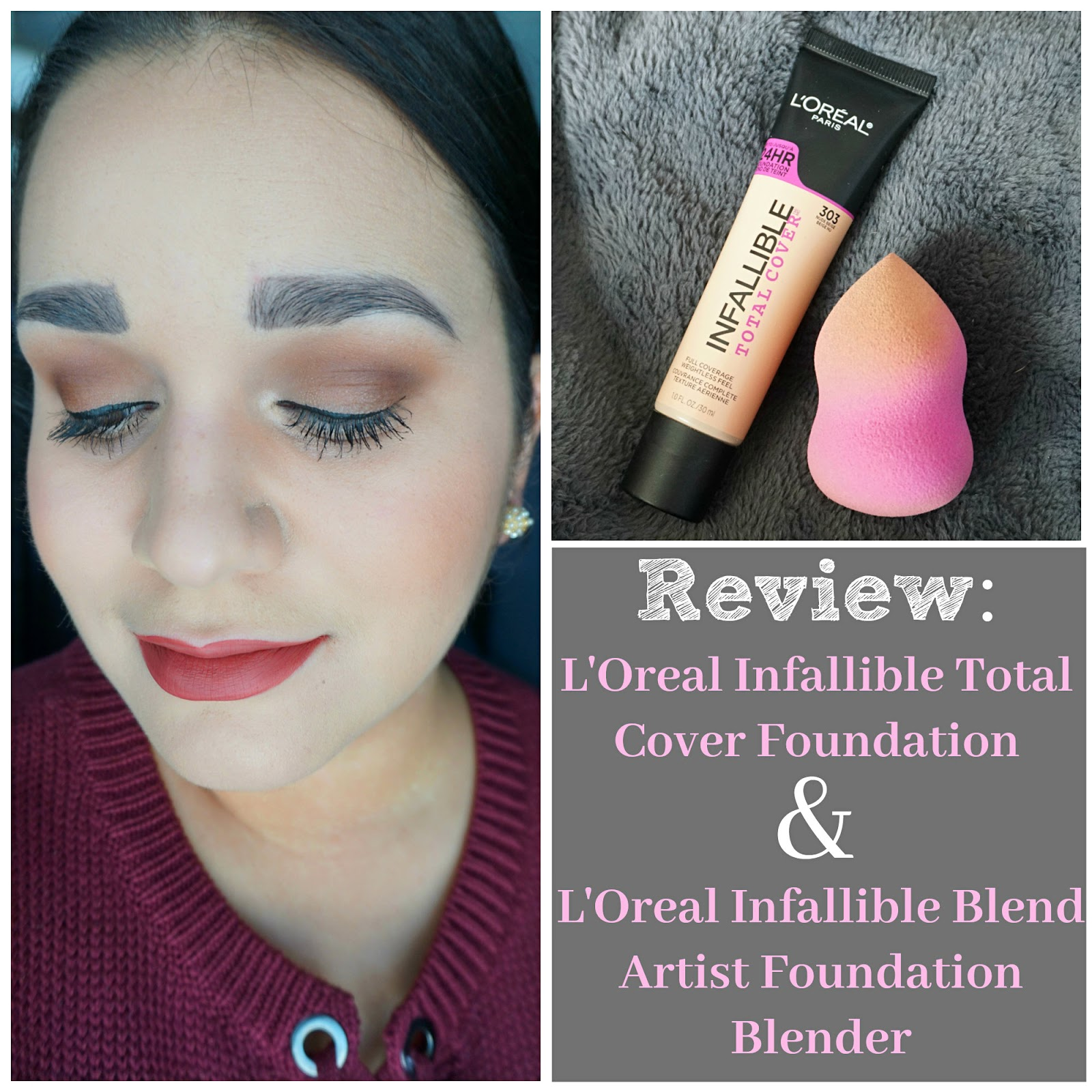 Makeup, Fashion & Royalty: Review: L'Oreal Infallible