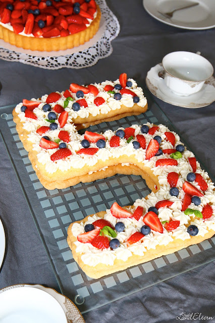 Number Cake - Zahlenkuchen - Geburtstagstorte - Rezept