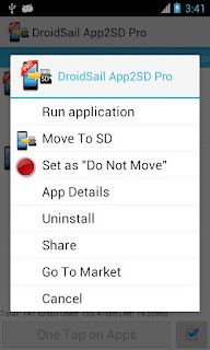 Move Apps To SD Card With DroidSail Super App2SD PRO - ROOT