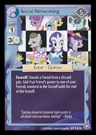 My Little Pony Social Networking The Crystal Games CCG Card