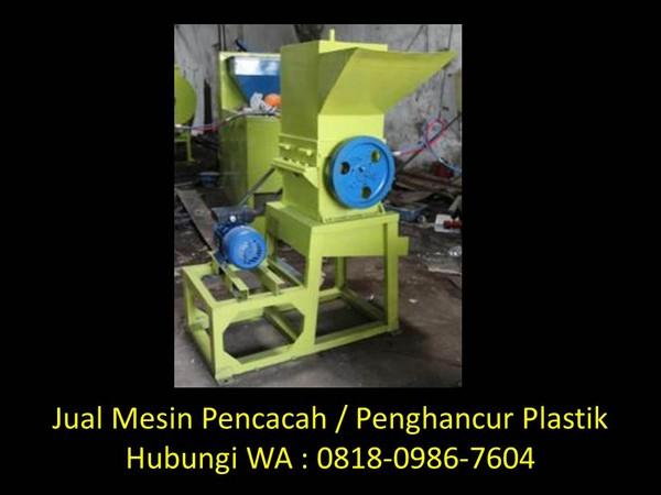 perencanaan mesin pencacah plastik di bandung
