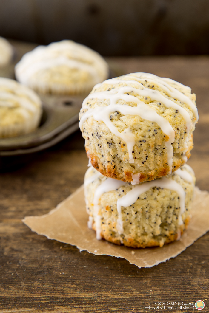 Lemon Poppy Seed Muffins | Cooking on the Front Burner