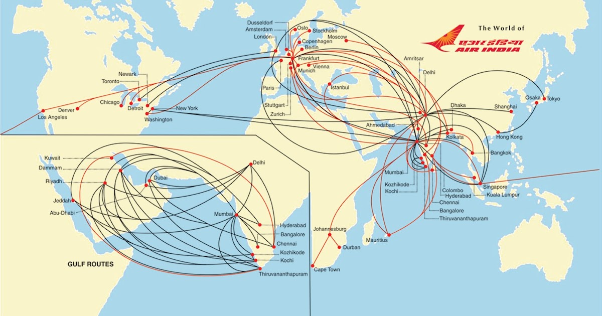 The Timetablist Air India International Routes C 2012