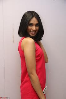 Spatika Surapaneni in Red Tight Dress at FBB Miss India 2017 finalists at Telangana auditions Feb 2017 (45).JPG