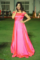 Actress Pujita Ponnada in beautiful red dress at Darshakudu music launch ~ Celebrities Galleries 016.JPG