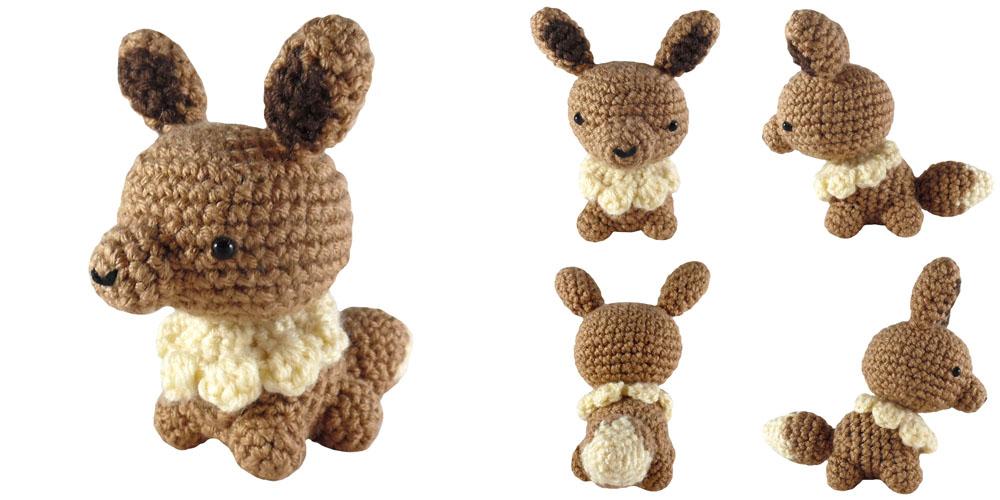 Eevee Plush | Crochet pokemon, Pokemon crochet pattern, Pokemon ... | 500x1000
