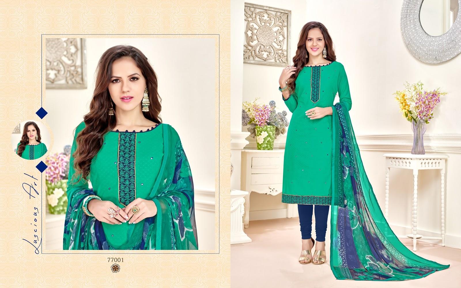 Kavvya 77 – Designer Mumbai Cotton Butti Salwar Suit