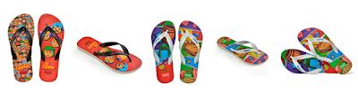 Modelos das sandálias - Divulgação