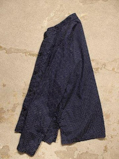 "Engineered Garments ""Dayton Shirt in Dk.Navy Polka Dot"""