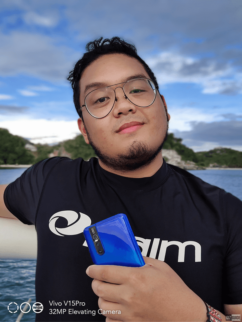 Portrait sample 1: Duey Guison of team Unbox.ph with the V15 Pro