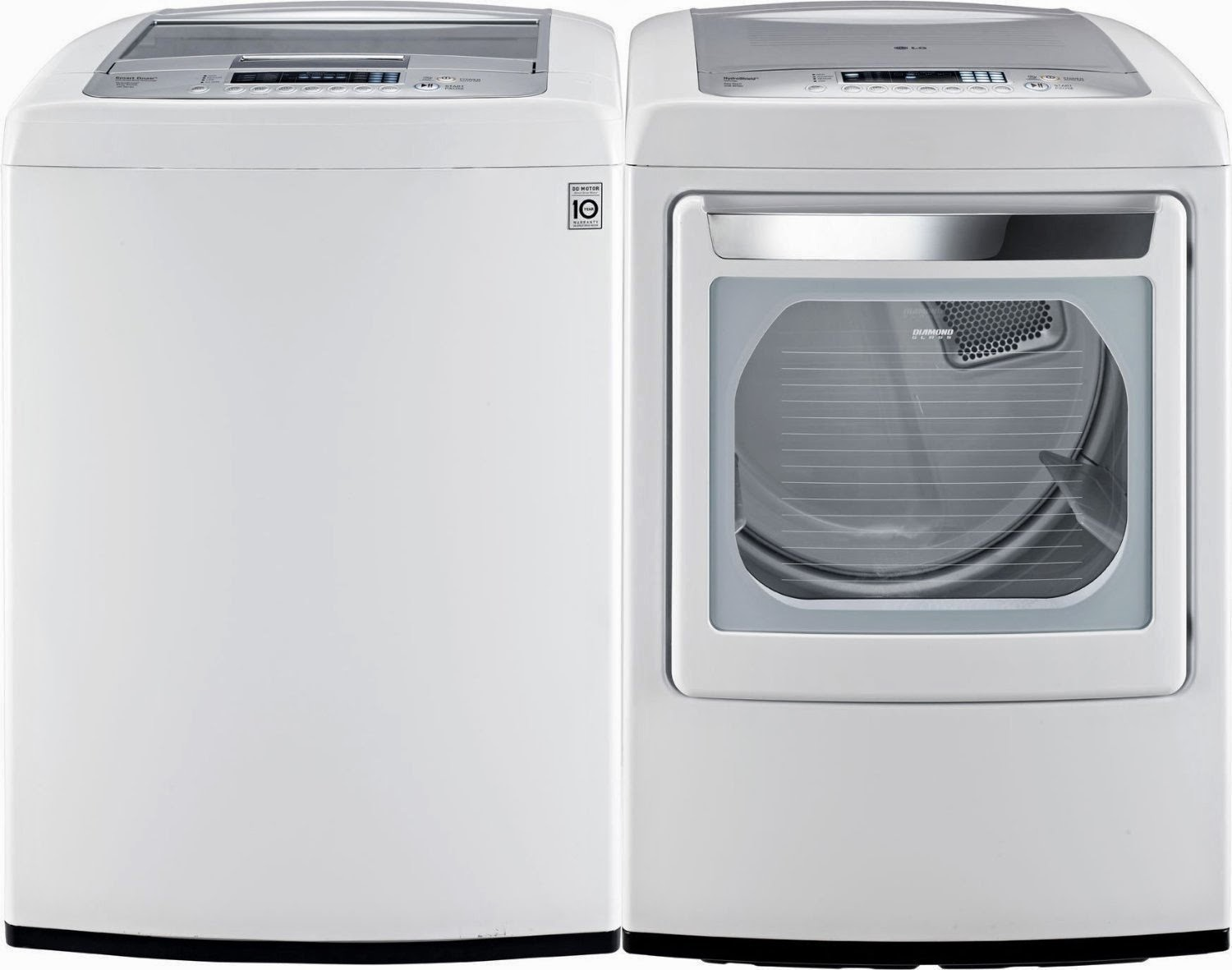 classic white lg top load washer and dryer