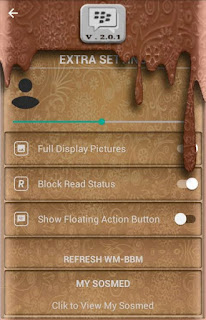 BBM Mod WM Batik Meler Brown Theme v3.2.0.6 Apk