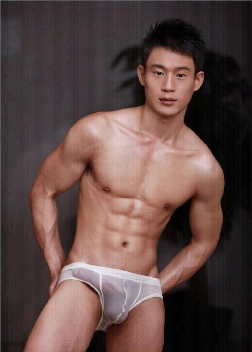 Naked male asian model