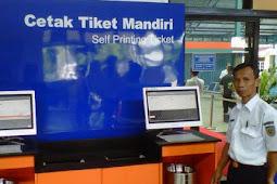 Begini Caranya Cetak Sendiri Tiket Kereta Api Online di Stasiun