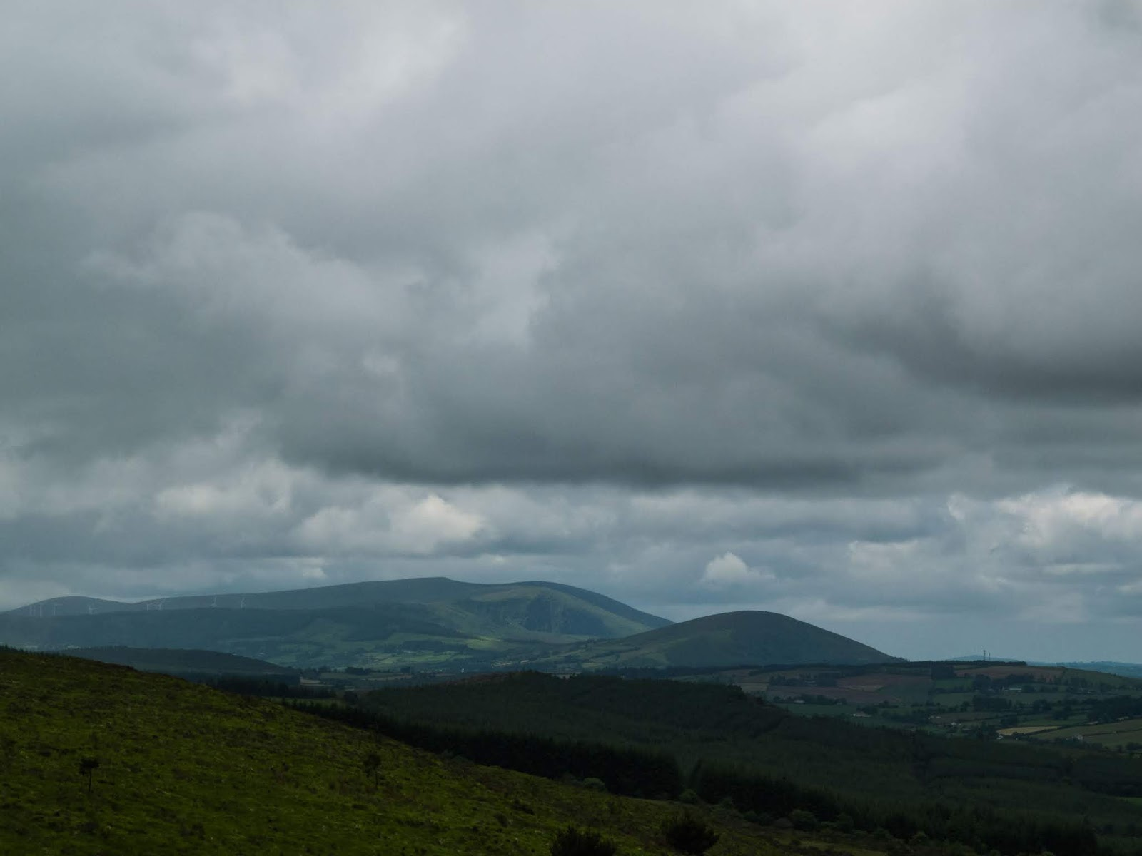 Boggeragh Mountains, County Cork on a cloudy day.