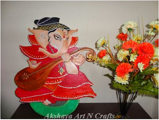 Ganesh Painting on MDF Board