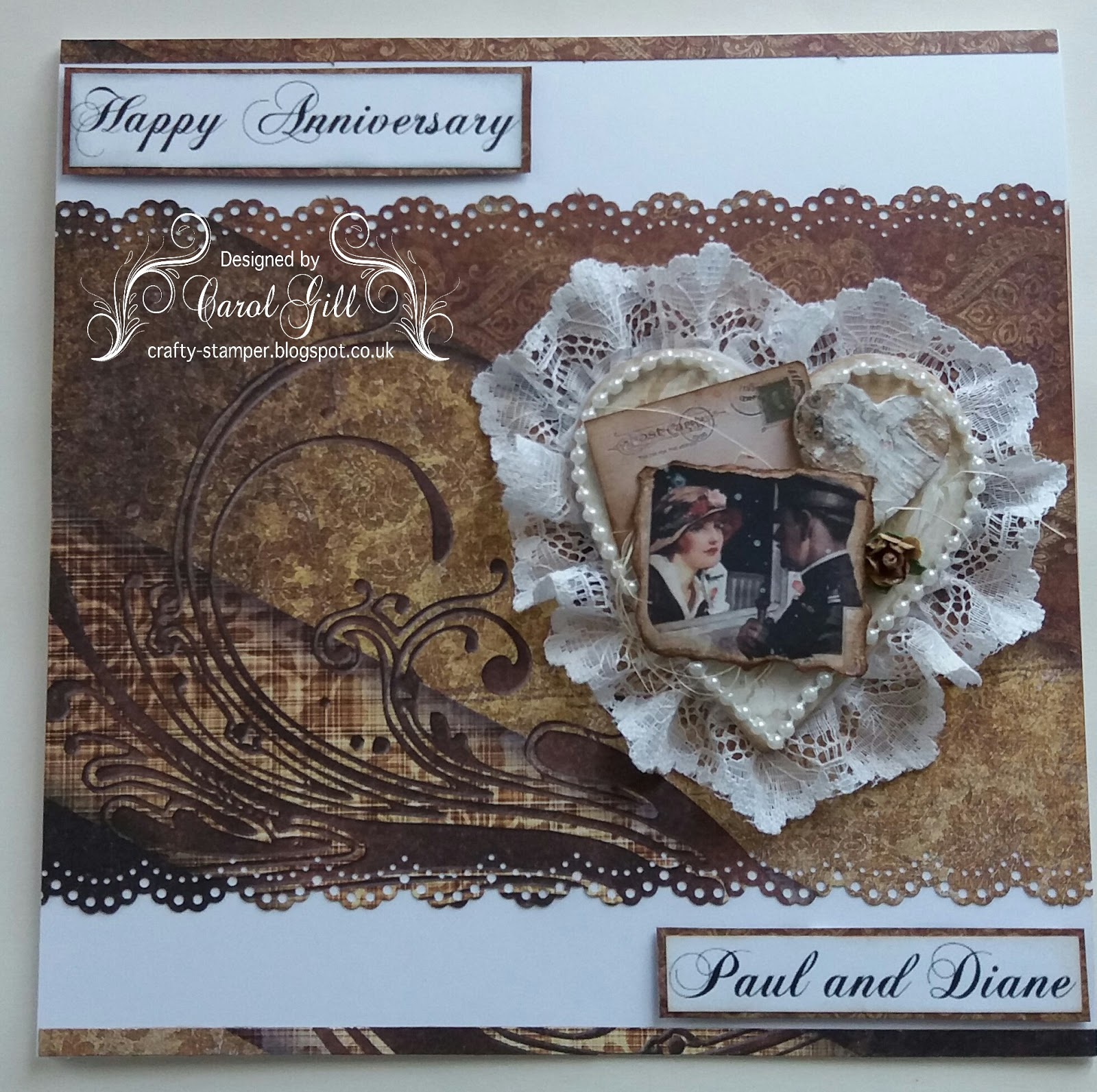 crafty cardmakers lace or ribbon crafty sentiments ATG the