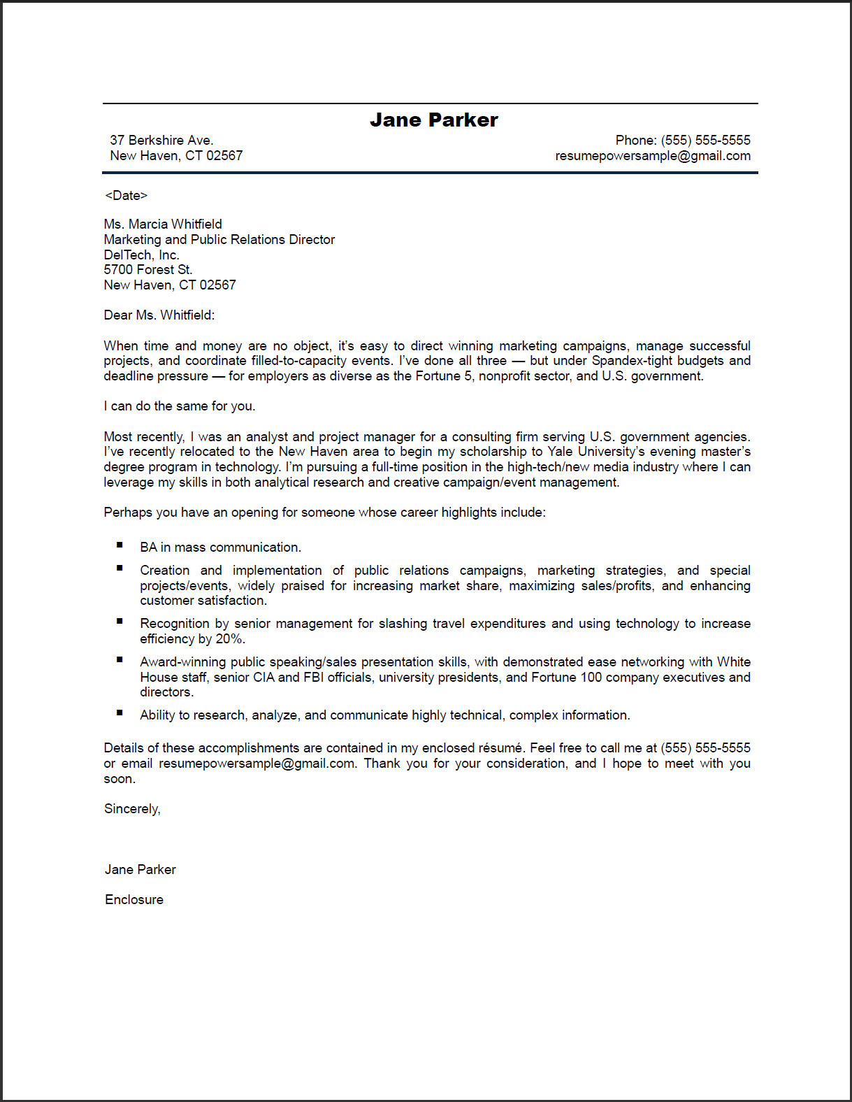 Sample Resume Cover Letter Doc Tipss Und Vorlagen