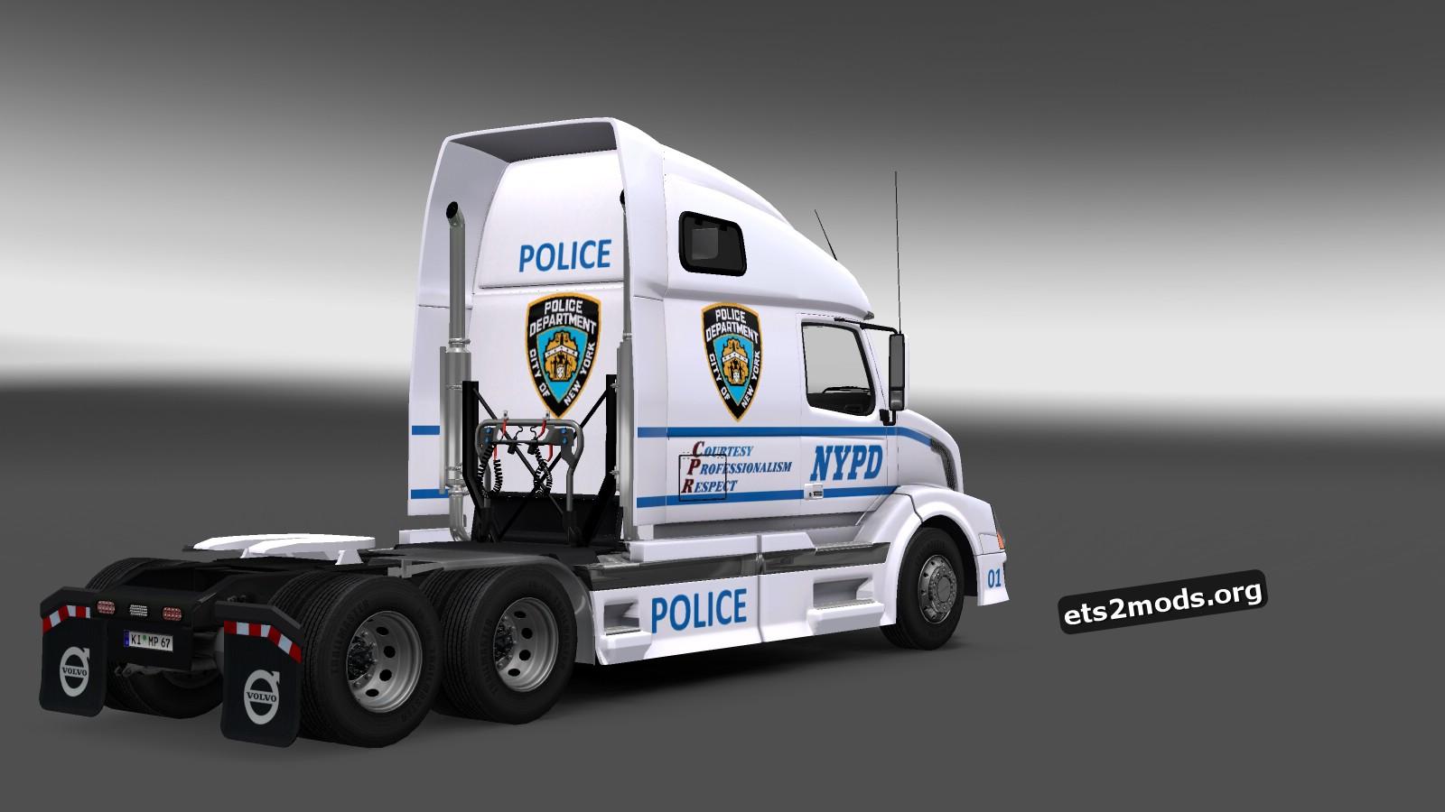N.Y.P.D Skin for Volvo VNL 670