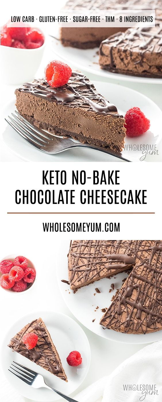 KETO LOW CARB NO BAKE CHOCOLATE CHEESECAKE RECIPE