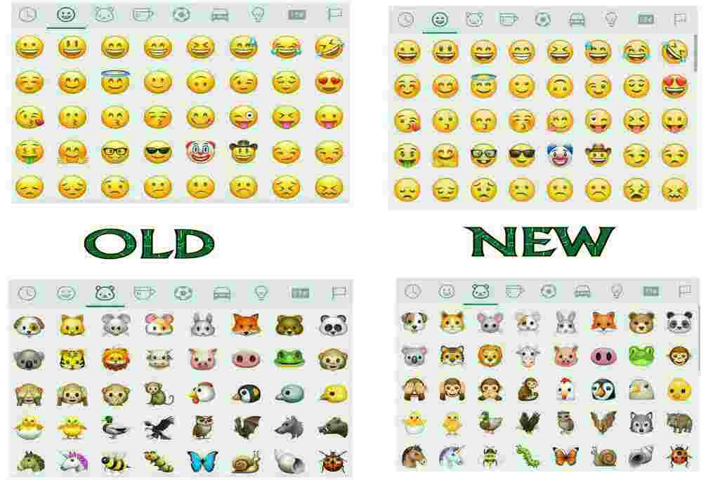 Whatsapp's New Set Of Emojis