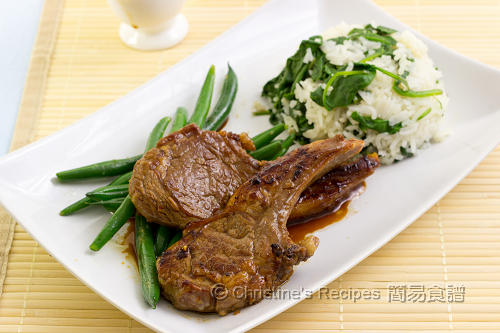 煎羊扒配菠菜飯 Pan-fried Lamb Cutlets with Spinach Rice02
