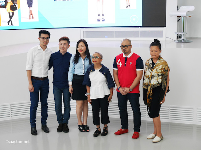 From left to right: Alfred Hor and Xavier Mah of XALF, IJM LAND Sales and Marketing Manager Grace Foo, fashion icon Zaihani Zain, Fairuz Ramdan of FR BLUE LABEL, Fern Chua of FERN