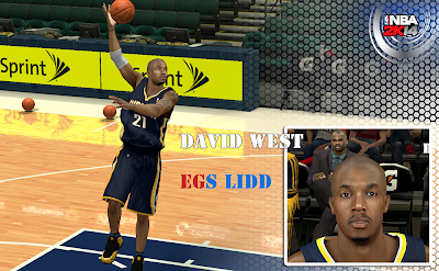 NBA 2K14 David West Cyberface Patch
