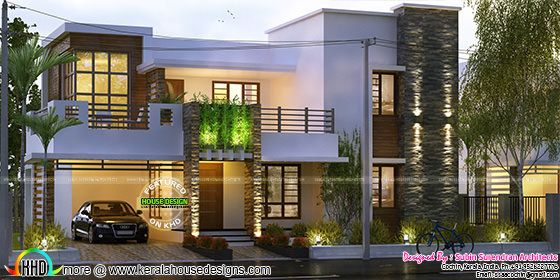 2474 sq-ft 4 bedroom modern mix home